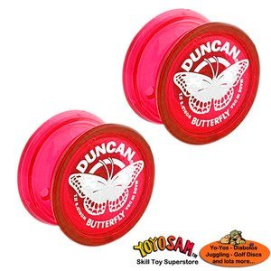 Duncan Butterfly Yo-Yo - Two pack - Red and Red - 1