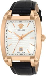 Versace Men's Tonneau Gold Plated Watch by Versace