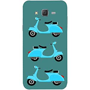 Casotec Scooter Design Hard Back Case Cover for Samsung Galaxy J5