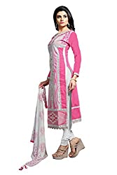 JHEENU Chandhari Unstitched Salwar suit