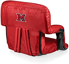 NCAA Miami Ohio Redhawks Ventura Portable Reclining Seat Red by Picnic Time