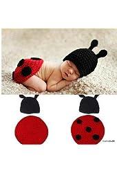 Joy Baby Ladybug Costume Handmade Crochet Knit Photo Prop