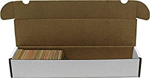 BCW 930 Count- Corrugated Cardboard Storage Box - Baseball, Football, Basketball, Hockey, Nascar, Sportscards, Gaming & Trading Cards Collecting Supplies - 1 Box