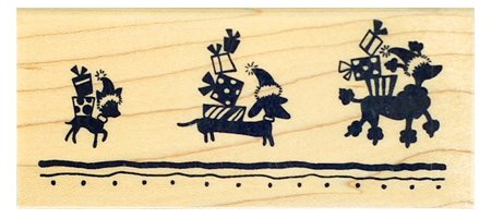 Pooch Packages Border Wood Mounted Rubber Stamp (N185)