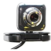 SANOXY 5.0 Megapixel Flexible USB PC Camera Webcam W Microphone Black 5.0 MP Square