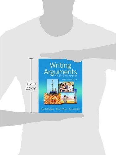 writing arguments The market leader in argumentative rhetoric/readers, writing arguments has been praised for its clear explanation of the toulmin model, separate chapters on reading and writing arguments.