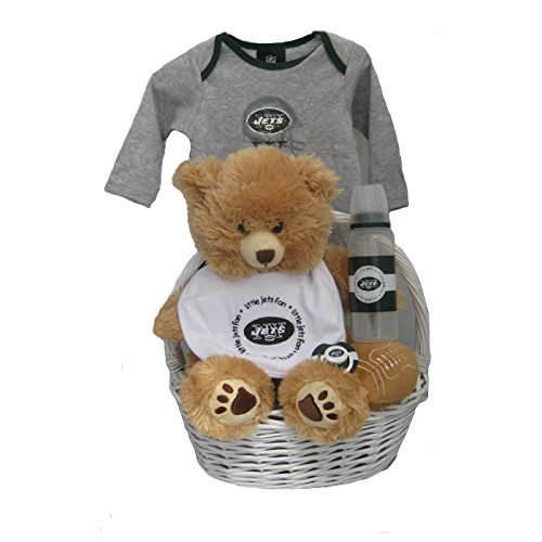 Baby Gift Baskets New York : Jets teddy bear new york