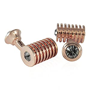 Cuff-Daddy Rose Gold Black Diamond Swarovski Double Cufflinks