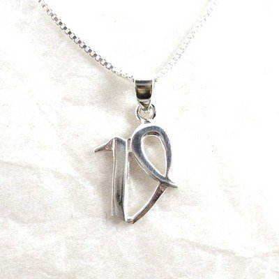 """Sterling Silver Initial Charm Necklace, Letter V, 16"""" Chain front-100092"""