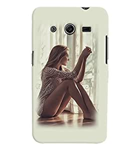 PrintVisa Hot & Sexy Girl 3D Hard Polycarbonate Designer Back Case Cover for Samsung Galaxy Core 2 G355H