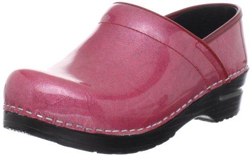 Sanita Women's Professional Pearl Clog,Pink Patent,39 EU/8.5-9 M US