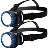 The Pecan Man Extra Light Set of 2 LED Head Lamps for Camping ,Fishing