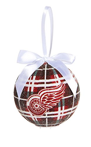 100Mm Led Ball Ornament, Detroit Red Wings