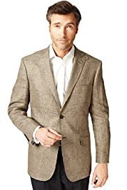 Sartorial Luxury Pure Linen 2 Button Checked Jacket