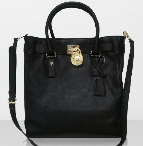 MICHAEL Michael Kors Hamilton Multifunction Leather NS Tote - Black