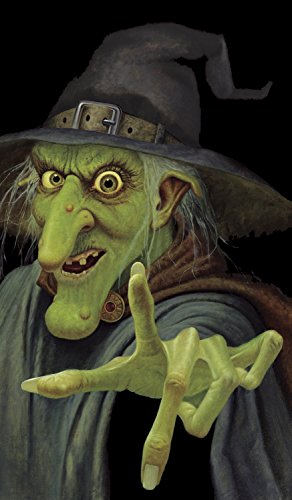WOWindow Posters Wily Witch Scary Halloween Window Decoration 34.5