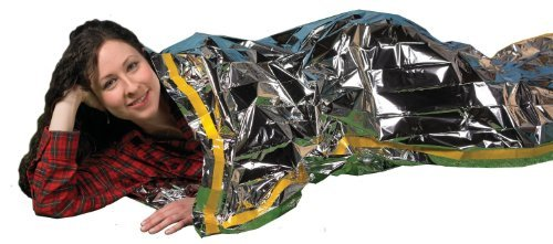"""Emergency Survival Mylar Thermal Sleeping Bag (2 Pack) - Grizzly Gear - 84"""" X 36"""" Provides Compact Emergency Protection In All Weather Conditions. Made Of Durable Insulating Mylar Material Designed By Nasa For Space Exploration Retains/Reflects Back 90% O"""
