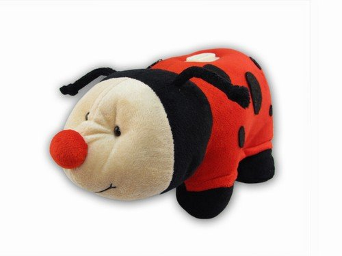 Puzzled Plush Lady Bug Huggie Bank