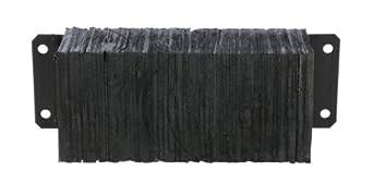 "Vestil 1224-4.5 Horizontal Laminated Dock Bumper, Fabric Reinforced Rubber, Rectangular, 4 Holes, 12"" Height, 24"" Width, 4.5"" Depth"
