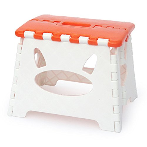 Hommp Kids Foldable Step Stools Orange Furniture Chairs