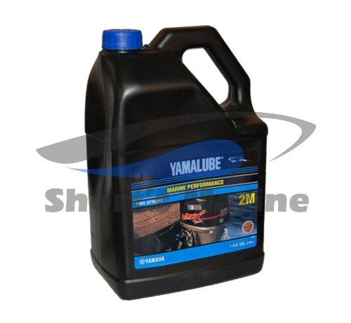 Yamaha LUB-2STRK-M1-04 Yamalube 2M Marine 2-Stroke Oil NMMA TC-W3 Gallon; LUB2STRKM104 Made by Yamaha