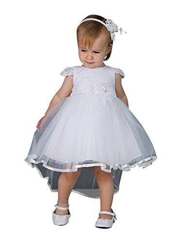 Boutique-Magique -  Abito da battesimo  - Bebè femminuccia bianco 24 mesi