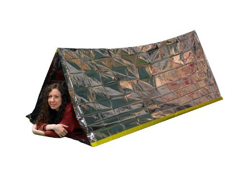 Emergency Survival Mylar Thermal Reflective Cold Weather Shelter Tube Tent - Accommodates 2 Adults - 8' X 3'- By Grizzly Gear Provides Compact Emergency Protection In All Weather Conditions. Made Of Durable Insulating Mylar Material Designed By Nasa For S