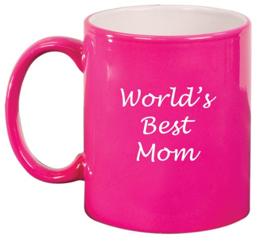 World'S Best Mom Ceramic Coffee Tea Mug Cup Hot Pink Gift For Mom