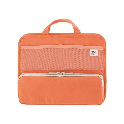 スタンドポケット(ヨコ型)A5 オレンジ A-7663-4 自立もできるバッグインバッグ リヒト/LIHIT LAB
