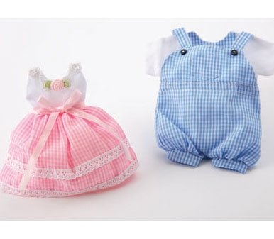 Baby Shower Theme Favor Bags - Pink Dress