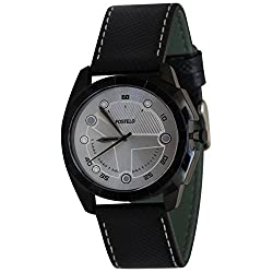 Fostelo Mens Silver Dial Analog Wrist Watch (FST-111)