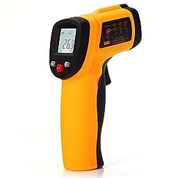 Masione® Temperature Gun Non-contact Digital Laser Infrared IR Thermometer -58~+788ºF/-50 ~ 420ºC