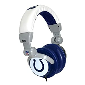 iHip Indianapolis Colts DJ Headphones (Discontinued by Manufacturer) by iHip