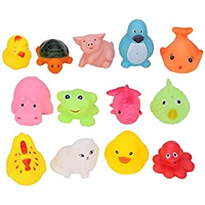 1Set HENGSONG Kids Baby Rubber Float Sqeeze Sound Animals Toys Bath Play Toys
