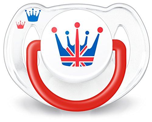 Philips AVENT - Ciuccio Gran Bretagna in edizione limitata, 6-18 mesi, colore rosso