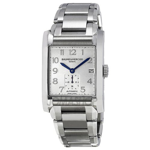 Baume and Mercier Hampton Silver Dial Automatic Mens Watch MOA10047