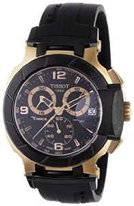 Tissot T0484172705706 - Reloj cronógrafo de caballero de cuarzo con correa de goma negra