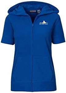 NCAA San Jose State Spartans Ladies Short Sleeve Full Zip Polar Fleece Hoodie by Oxford