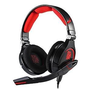 Thermaltake���Tt��eSPORTS CRONOS Headset �إåɥ��å� �֥�å� ������������Ź�� SP495 HT-CRO008ECBL
