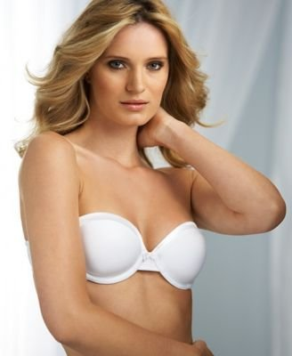 Warner's Women's Satin Tuxedo Convertible Strapless Contour Underwire Bra, White, 34C