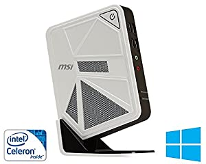 MSI WIND BOX 108XP Media Center SMART PC (Intel Celeron 1.8 GHz Dual Core processor,RAM 4 GB DDR3 ,HDD 1000 GB,Intel® HD Graphics VGA HDMI,NO DVD, Wi-Fi, 2 X USB 3.0 - 4 X USB 2.0, Card Reader, OS Windows 8.1 64 - FULL Version)