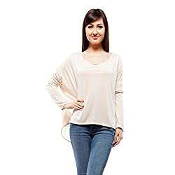 Orous Women's Body Blouse Shirt (Lacy009_Dusty Pink_Small)