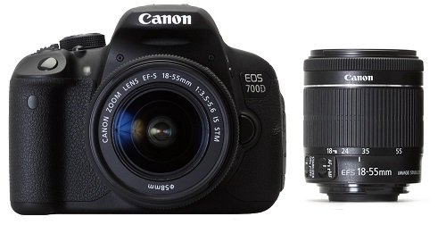 Canon-EOS-700D-18MP-Digital-SLR-Camera-Black-with-18-55-STM-Lens-8GB-SD-Card-Camera-Bag