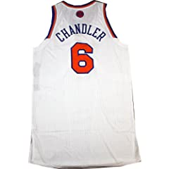 Tyson Chandler Jersey Warmup Shirt - NY Knicks 2012-2013 Season Game Used White... by Steiner Sports
