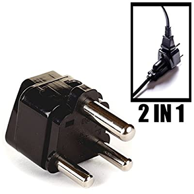 OREI 2 in 1 USA to India Adapter Plug
