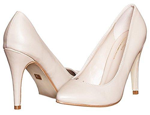 V 1969 Italia Womens ANITA Designer Classic High Heel Pump Nude Beige Size 8