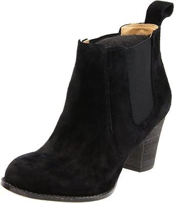 Nine West Women's Ivree Ankle Boot,Black Suede,11 M US