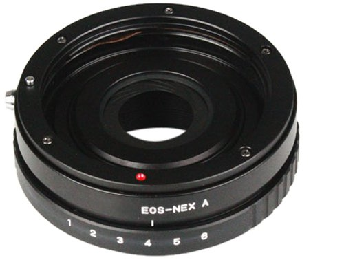 Bower ABANEXEOS Body Mount with Aperture Control from Sony NEX to Canon EOS