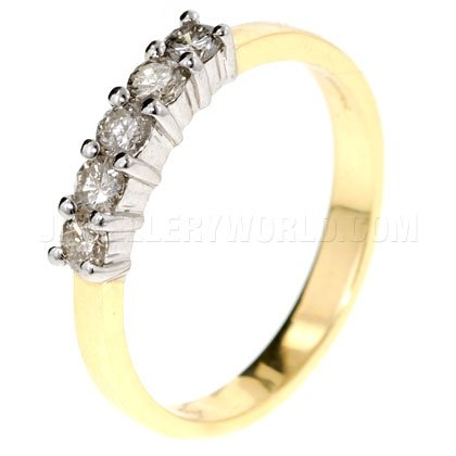 0.50ct Diamond 18ct Gold Half Eternity Ring