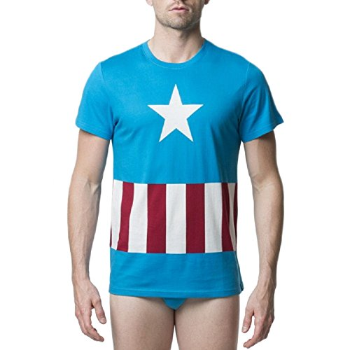 Marvel Captain America Mens' Underoos 2 Piece